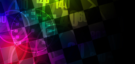 Racing square background, vector abstraction in car track
