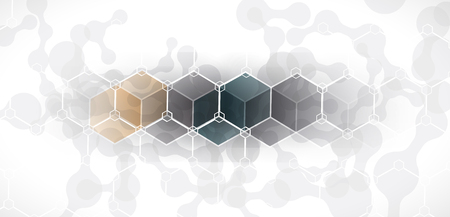 Abstract hexagon background. Technology polygonal design. Digital futuristic minimalism.