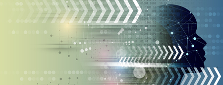 Resumen futurista fade fondo de negocios de tecnología informática Ilustración de vector