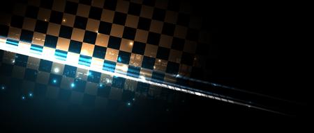 Wyścigi prędkości tło, ilustracji wektorowych. Streszczenie ruchu