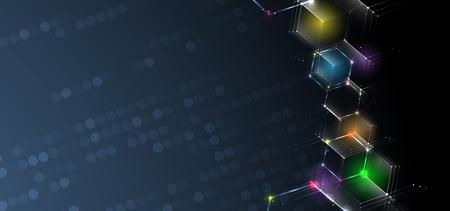 Abstract hexagon background. Technology poligonal design. Digital futuristic minimalism. Vector Banque d'images - 115588983