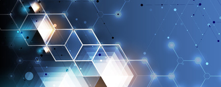 Abstract hexagon background. Technology poligonal design. Digital futuristic minimalism. Vector