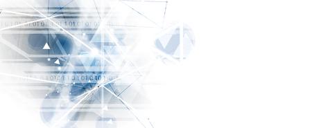 Fondo astratto di tecnologia. Interfaccia tecnologica futuristica con forme geometriche