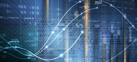 Contexte abstrait de la finance et des affaires avec graphique. concept économique mondial