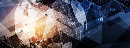 Fondo astratto di affari e di finanza con il grafico. concetto economico mondiale