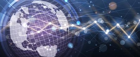 Contexte abstrait de la finance et des affaires avec graphique. concept économique mondial Vecteurs