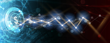 Abstract finance and business background with graph. world economic concept