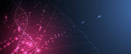 Tecnología de ADN abstracto. Concepto médico de la ciencia.