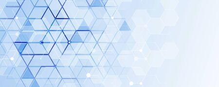 Fondo astratto di tecnologia. Interfaccia tecnologica futuristica con forme geometriche Vettoriali