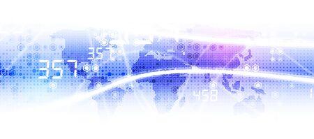Technology innovation background, idea of global business solution Vektorové ilustrace