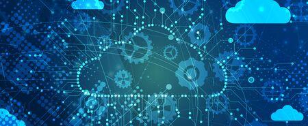 Integrated digital web concept  イラスト・ベクター素材