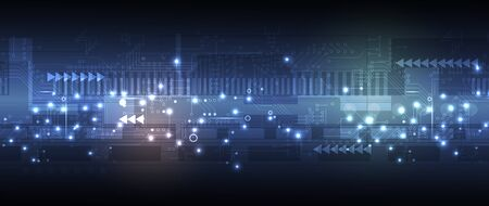Abstract circuit board futuristic technology processing business background
