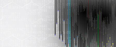 Procesamiento cuántico. Inteligencia artificial de aprendizaje profundo. Futura nueva tecnología para presentación de negocios o ciencia. Vector de fondo Ilustración de vector