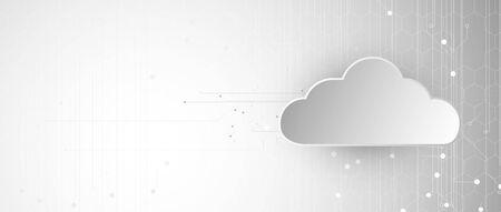 modern cloud technology. Integrated digital web concept background