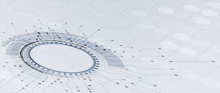 Technology innovation idea of global business solution Ilustração
