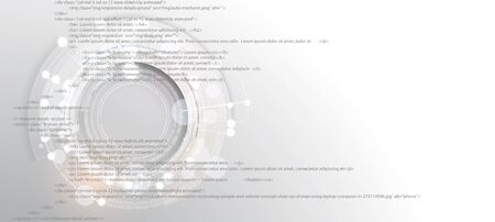 Software development abstract technology code and script background. Web  optimization and seo