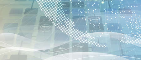Technology innovation background, idea of global business solution
