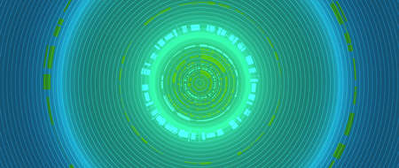 Quantum processing. Deep learning artificial intelligence. Future new technology for business or science presentation. Vector background Vektorové ilustrace