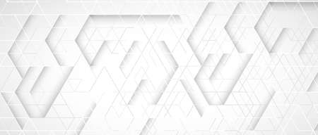 Abstract geometric white and gray futuristic background for business presentation