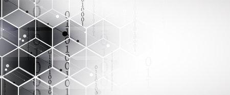 Abstract hexagon background. Technology poligonal design. Digital futuristic minimalism. Vector