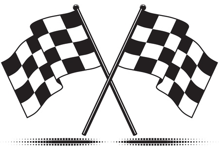 checkered flag: Bandiere a scacchi