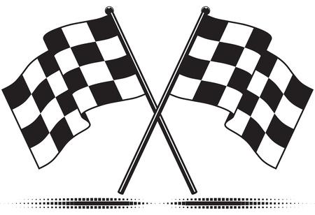 motor race: Geruite vlag