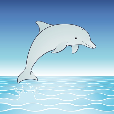 escapism: cute jumping dolphin cartoon character
