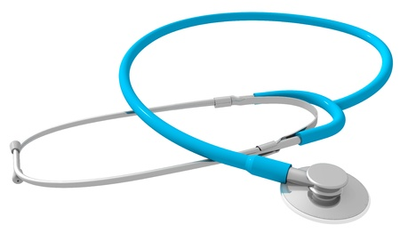 Stethoscope isolated on white photo