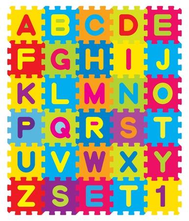 sachant lire et �crire: Puzzle Alphabet Vecteur