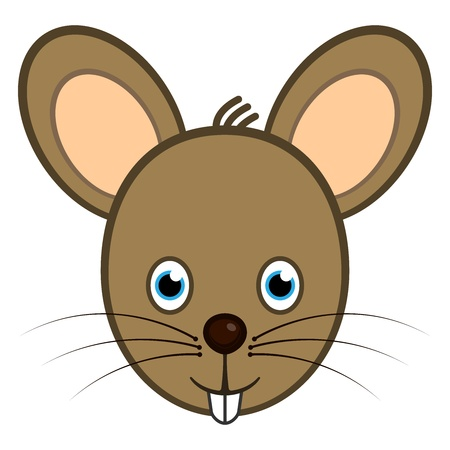 close up face: Cute mouse web user avatar or icon Illustration