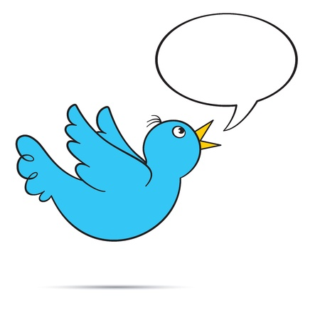 tweets: Flying Bluebird with Bubble, EPS8