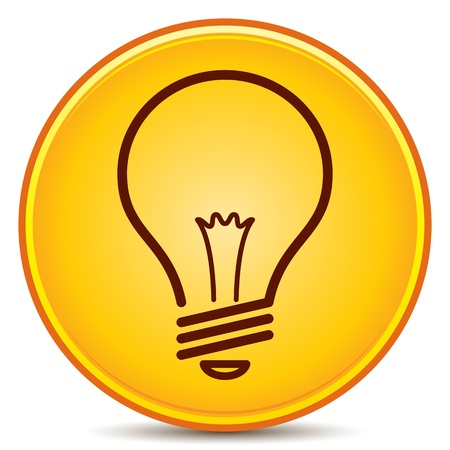Light Bulb Icon Matte Button Vector