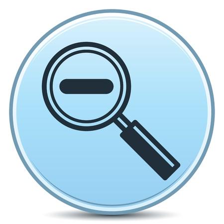 Decreasing Magnification Minus Sign Matte Button Illustration