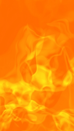 Abstract hot fiery flames background, 3D rendered