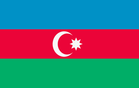 National Flag of Azerbaijan Background for editors and designers. National holiday
