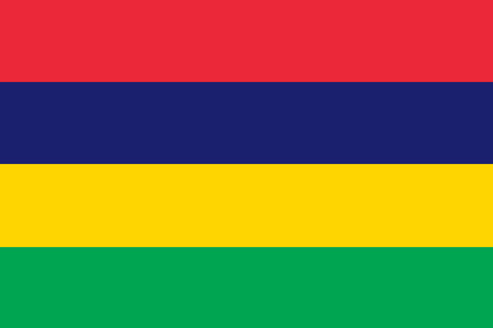 National flag of Mauritius. Background for editors and designers. National holiday