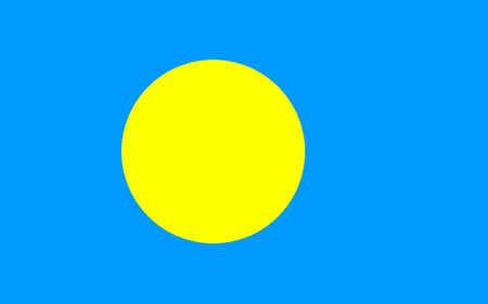 National flag of Palau. Background for editors and designers. National holiday Stockfoto