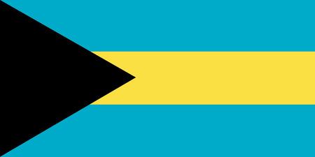 National flag of Bahamas. Background  with flag of Bahamas.
