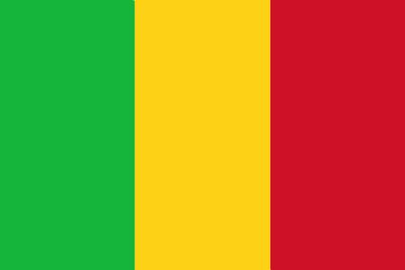 National flag of Mali. Background  with flag of Mali. Stock Photo