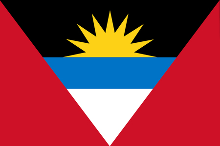 National flag of Antigua and Barbuda. Background  with flag of Antigua and Barbuda.
