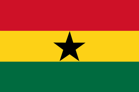 National flag of Ghana. Background  with flag of Ghana.