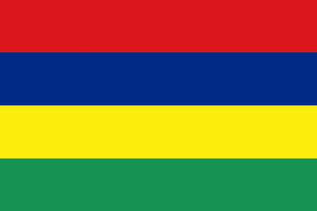 National flag of Mauritius. Background  with flag of Mauritius.