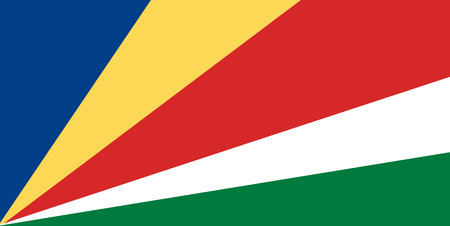 National flag of Seychelles. Background  with flag of Seychelles.