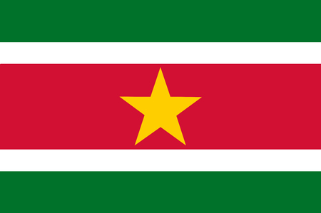 National flag of Suriname. Background  with flag of -Suriname.