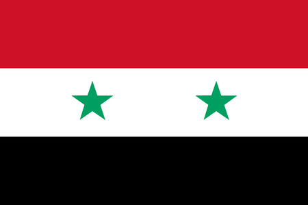 National flag of Syria.  Background  with flag of -Syria. Stockfoto