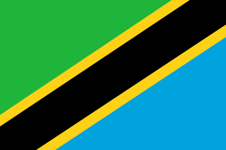 National flag of Tanzania.  Background  with flag of Tanzania.