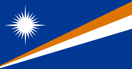 National flag of Marshall islands. Background  with flag of Marshall islands.