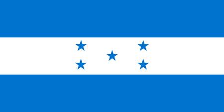 National flag of Honduras.. Background  with flag of Honduras. Stock Photo