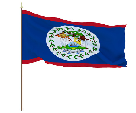 National flag of Belize. Background for editors and designers. National holiday Stockfoto