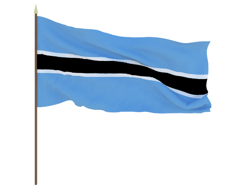 National flag of Botswana, Background for editors and designers. National holiday